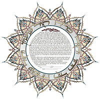 Now Comes The Reading Of Ketubah Marriage Contract In Original Aramaic Text Outlines Chatans Various Responsibilities To